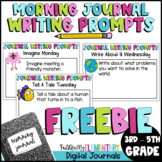 Free Morning Journal Writing Prompts Bell Ringers NO PREP