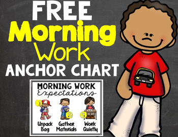 Free Morning Work Anchor Chart