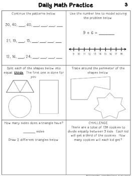 3rd Grade Morning Work: Free Sample