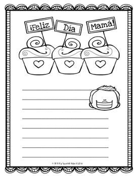 «Free» Mother's Day Writing Prompts English & Spanish!