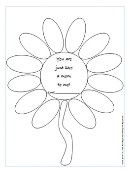 Free Mother's Day Writing Activity