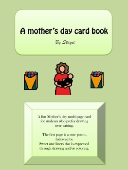 Free Mothers day card - Mini Book