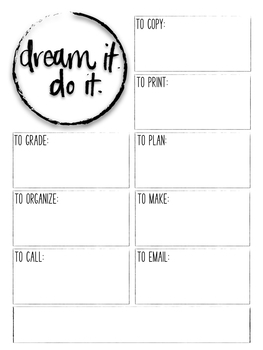Free Motivational Teacher To Do Lists **Morale Booster**