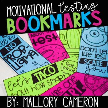 Free Motivational Testing Bookmarks