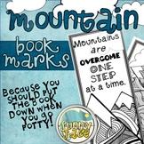 Printable Mountain Peak Theme Bookmarks to Color