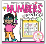Free Mouse Number Cards 1-25