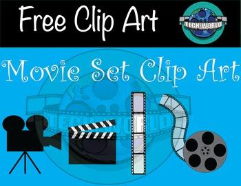 Free Movie Set Clip Art
