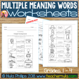Free Multiple Meaning Word Worksheets