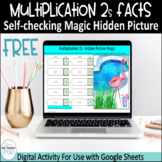 Free Multiplication 2s Facts Digital Hidden Picture