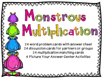 Monstrous Multiplication Activities