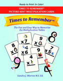 Free Multiplication Flashcards Book to use with Times to Remember