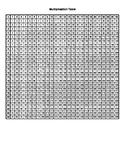 Free Printable Multiplication Table 1-25 x 1-25