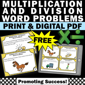 free printable multiplication and division word problems for kids