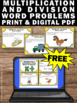 Free Multiplication and Division Word Problems  Task Cards 3rd Grade Math Review
