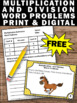 Free Multiplication and Division Word Problems 3rd Grade M