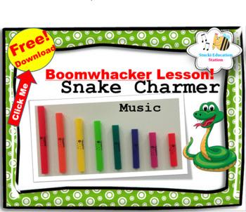 Free Music Lesson {Snake Charmer Boomwhacker Music}