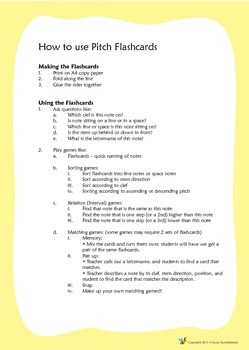 Music Bumblebees Music Pitch Flashcards - Bass Clef