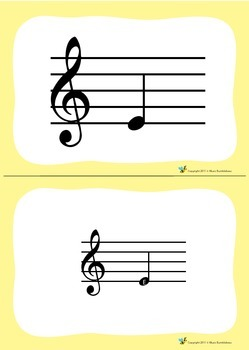 Music Bumblebees Free Music Pitch Flashcards - Treble Clef