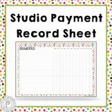 Free! Music Teacher Organization: Studio Payment Records