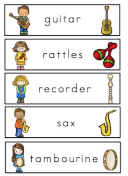 Free Music Vocabulary Cards