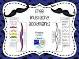 Free Mustache Bookmarks