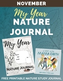Free My Year Nature Journal NOVEMBER Printable