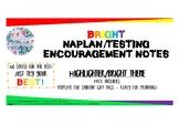 Free NAPLAN or Testing Encouragement Notes - Bright Theme