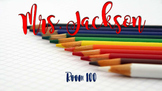 Free Name Sign - Colored Pencils