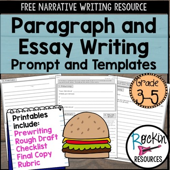 narrative writing prompt for paragraph and essay by rockin   narrative writing prompt for paragraph and essay