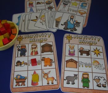 Free Nativity Bingo Happy Birthday Jesus Activities Nativity Centers Christmas