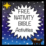 Free Freebie Nativity Christmas Activities Worksheets Printables