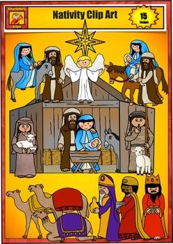 Nativity Clip Art from Charlotte's Clips: Catholic - Christian Series