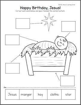 Free Nativity Label the Picture Pages