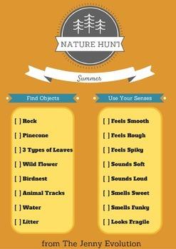 Free Nature Scavenger Hunt