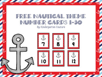 Free Nautical Cards 1-30