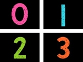 Free! Neon Bright Numbers {0-50} {Number Line}