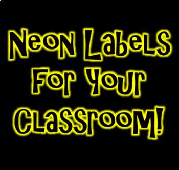 Free Neon Glow Classroom Labels