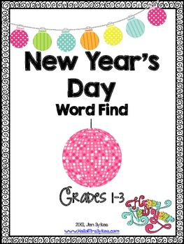 New Years Day Word Find and ELA Word Work