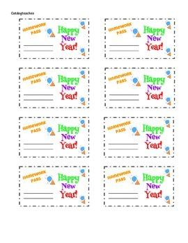 New Year's Homework Passes