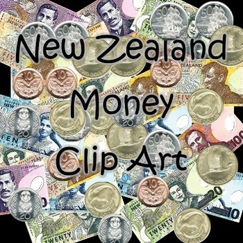 Free- New Zealand Currency Clip Art (Money / Notes / Coins)