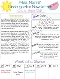 Free Newsletter Template *KinderCrush