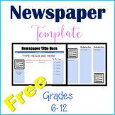 Free Newspaper Template - Free School Newspaper Template