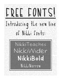 """Free """"Nikki"""" Fonts"""