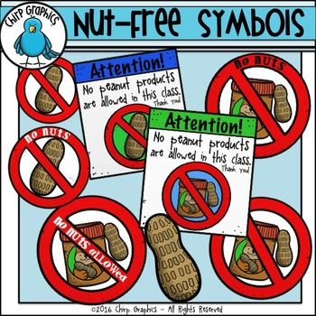 Nut Free Symbols Clip Art Chirp Graphics By Chirp Graphics Tpt