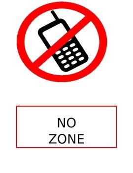 Free No Zone Go Zone Poster