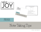 Free Note Taking Tips