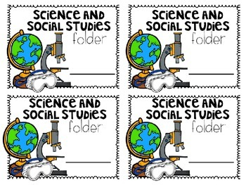 Free Notebook and Folder Subject Labels