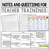 Free Notes and Literacy Training for Teachers!
