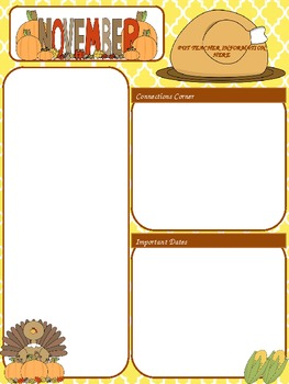 free november newsletter template by megan alessi tpt