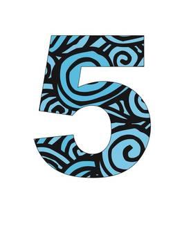 Free Number (0 - 10) - Blue Sea